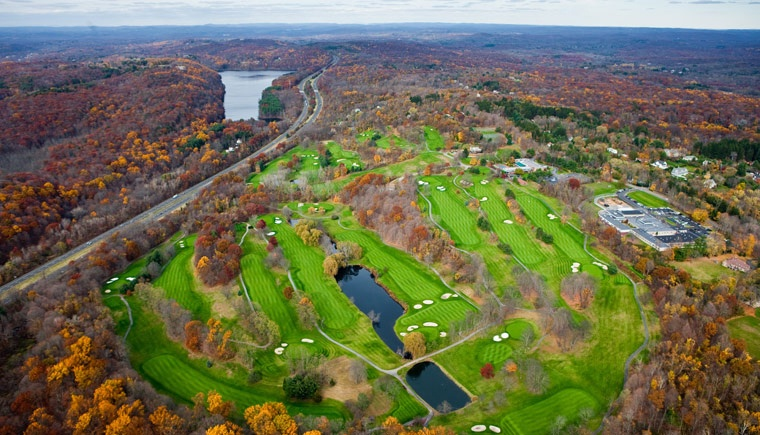 Aerial view of The Summit Club, Westchester, NY