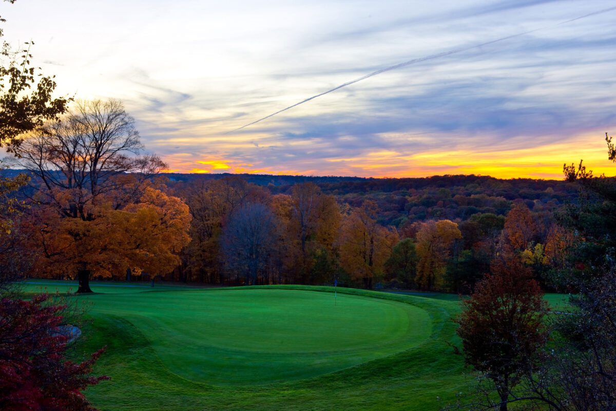 Sunset over the Summit Club, Westchester County, NY