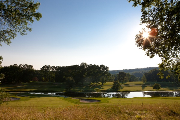 View of The Summit Club golf course, Westchester County, New York