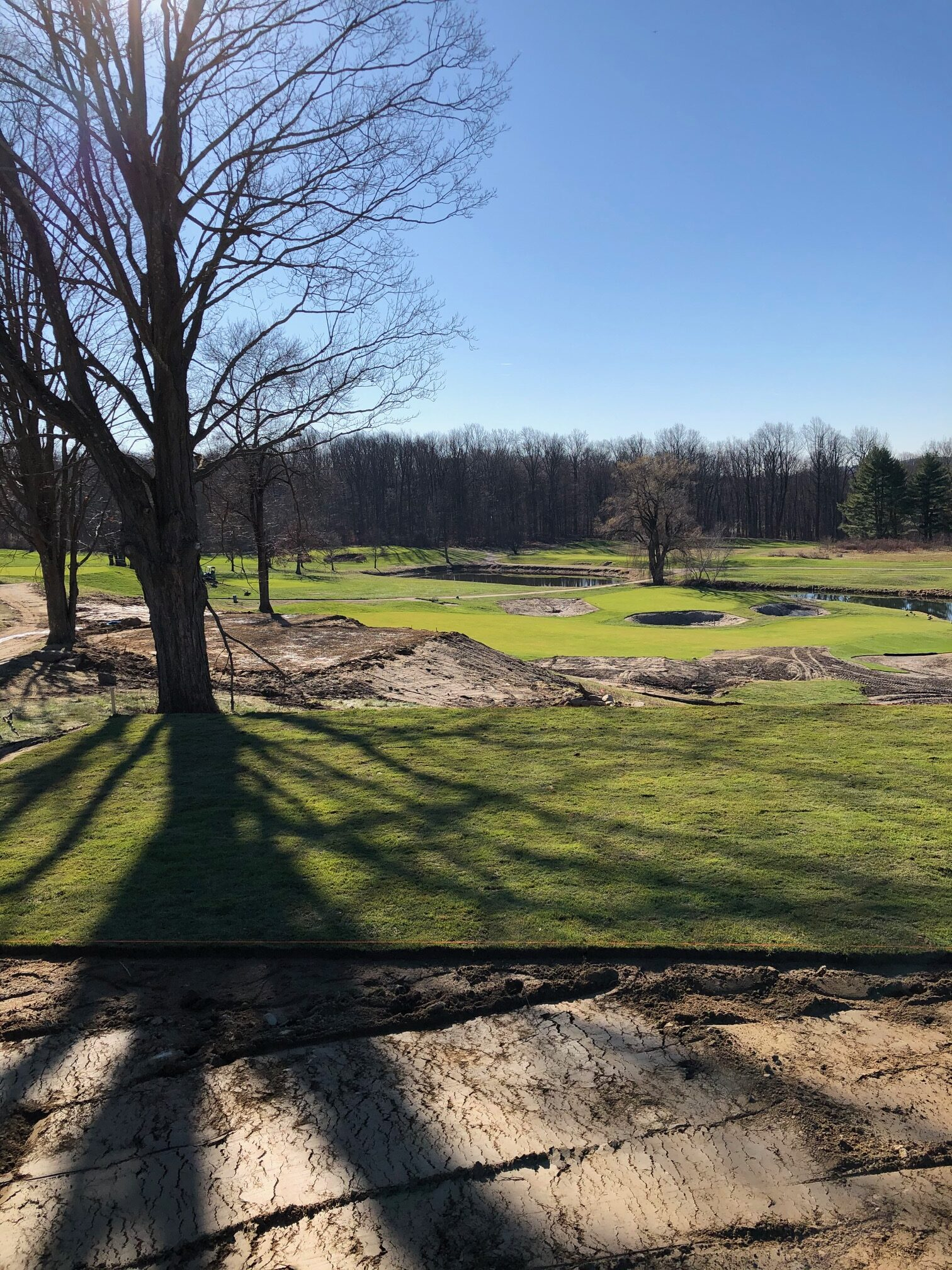 back tee box 17th hole construction at The Summit Club at Armonk