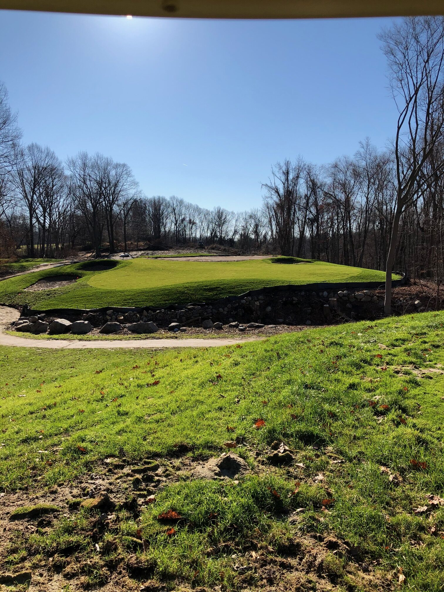 new 14th green complex at The Summit Club