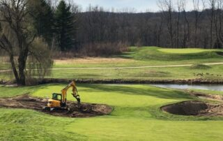 The seventeenth green complex at The Summit Club at Armonk is being redesigned to play as a par three from a new direction