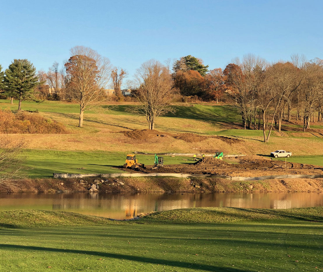 The Summit Club under construction, Westchester County